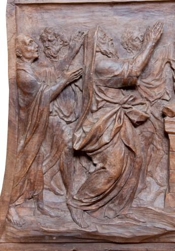 Relief depicting Elijah and Ahab at Mount Carmel c. 1700 -