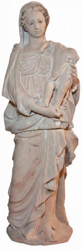 Terracotta Virgin and Child attributed to Charles Hoyau circa 1620-1640