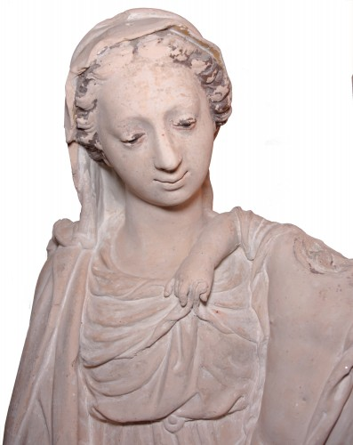 Terracotta Virgin and Child attributed to Charles Hoyau circa 1620-1640 - Sculpture Style Louis XIII