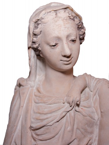 Sculpture  - Terracotta Virgin and Child attributed to Charles Hoyau circa 1620-1640