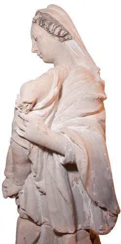 Terracotta Virgin and Child attributed to Charles Hoyau circa 1620-1640 -