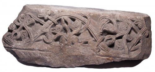Fragment Of Romanesque Frieze, 12th Century - Sculpture Style Middle age