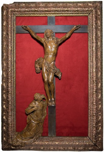 Large framed Christ, late 17th century, workshop of César Bagard