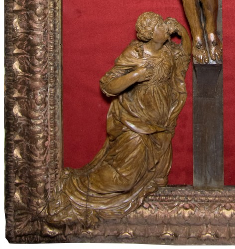 Large framed Christ, late 17th century, workshop of César Bagard -