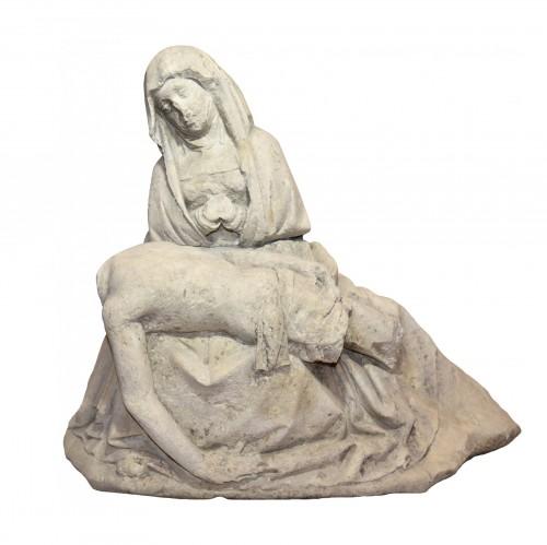 15th century limestone Pieta