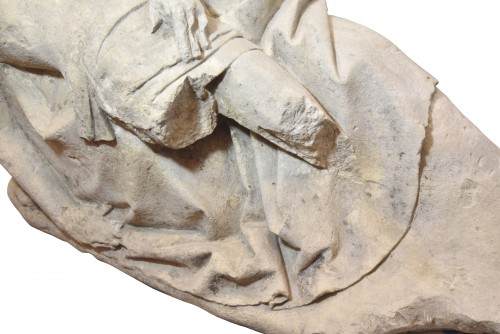 Sculpture  - 15th century limestone Pieta