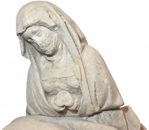 15th century limestone Pieta -