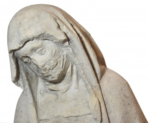 Middle age - 15th century limestone Pieta