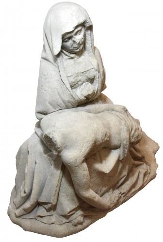 Antiquités - 15th century limestone Pieta