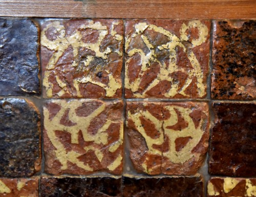 Set of 90 medieval tiles of the fourteenth century - Architectural & Garden Style Middle age