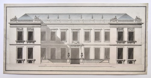 Transition style mansion project around 1760-1770. French school