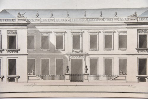 Transition style mansion project around 1760-1770. French school - Paintings & Drawings Style Transition
