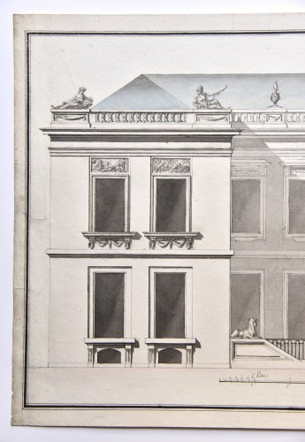 Paintings & Drawings  - Transition style mansion project around 1760-1770. French school