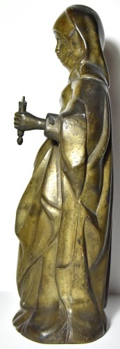 Sculpture  - Figure of a saint in bronze, late 15th century southern Netherlands