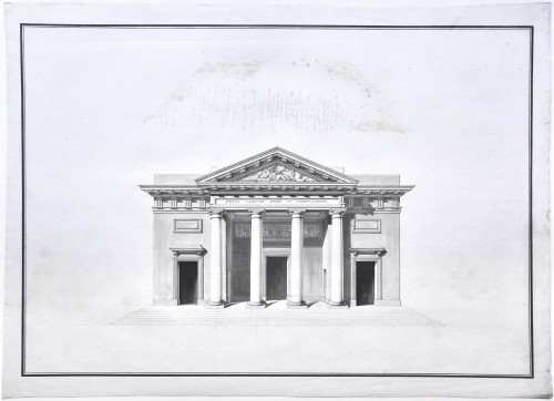 Elevation of Saint-Philippe-du-Roule, Chalgrin and workshop circa 1774