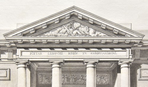Elevation of Saint-Philippe-du-Roule, Chalgrin and workshop circa 1774 - Paintings & Drawings Style Louis XV