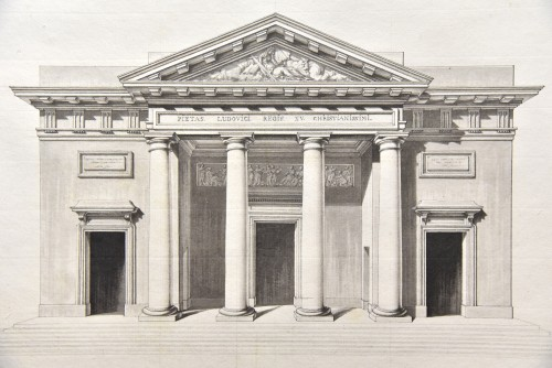 Paintings & Drawings  - Elevation of Saint-Philippe-du-Roule, Chalgrin and workshop circa 1774