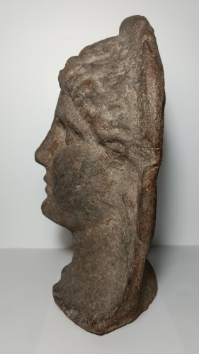 Ancient Art & Antiquities  - Etruscan Votive Head - 3rd-2nd Century Bc
