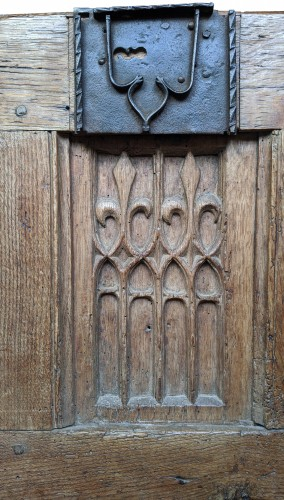Architectural & Garden  - Oak chest panel - end of the 15th century