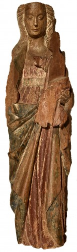 Madonna and Child in walnut from the second half of the 15th century