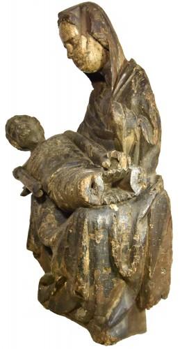 Sculpture  - Wooden pieta, Austria around 1450