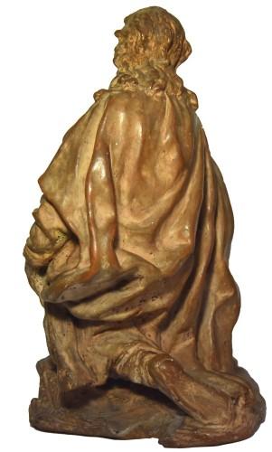 Sculpture  - Terracotta figure of a shepherd, Italian school of the 18th century