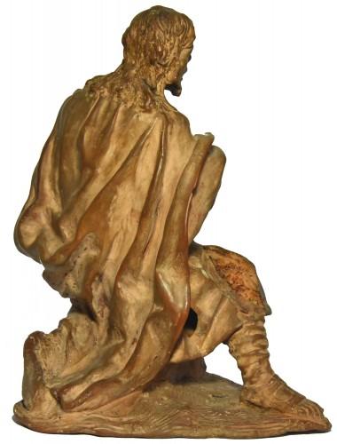 Terracotta figure of a shepherd, Italian school of the 18th century -