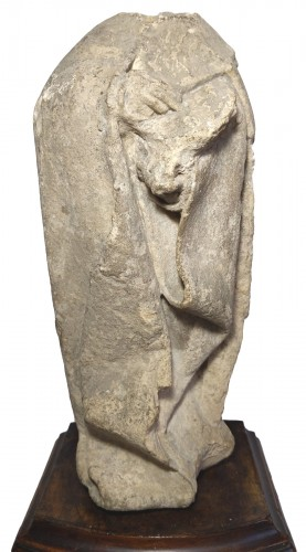 Limestone statuette of a mourner, Burgundy 15th century
