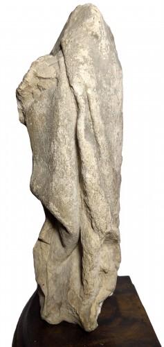 Sculpture  - Limestone statuette of a mourner, Burgundy 15th century