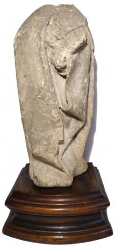 Limestone statuette of a mourner, Burgundy 15th century -