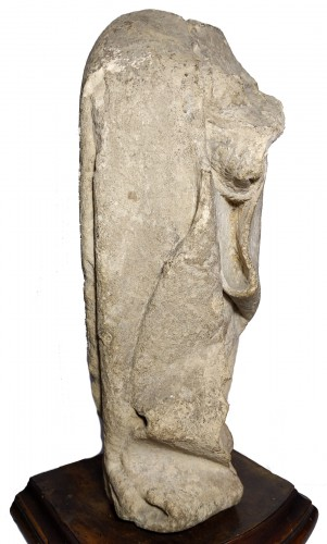 Limestone statuette of a mourner, Burgundy 15th century - Middle age