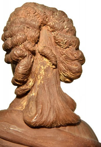 Terracotta bust of a woman of the revolutionary by Martin De Grenoble, 1791 -