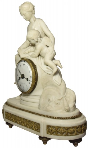 Marble mantelclock attributed to Ignace or Joseph Broche circa 1780-1790 - Horology Style Louis XVI