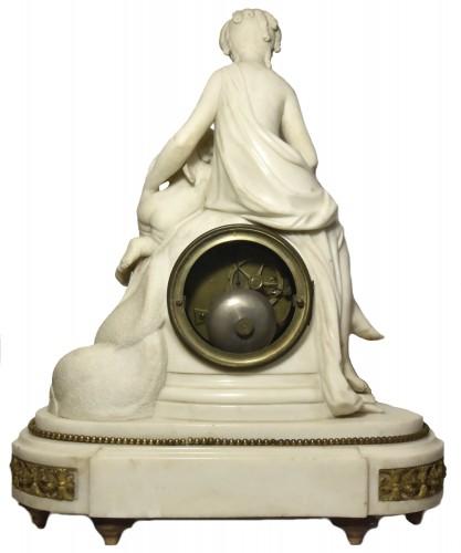 Marble mantelclock attributed to Ignace or Joseph Broche circa 1780-1790 -