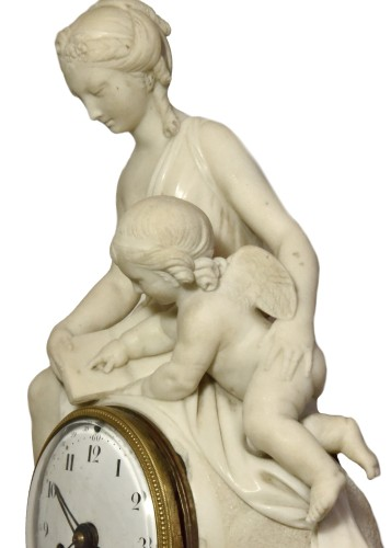18th century - Marble mantelclock attributed to Ignace or Joseph Broche circa 1780-1790