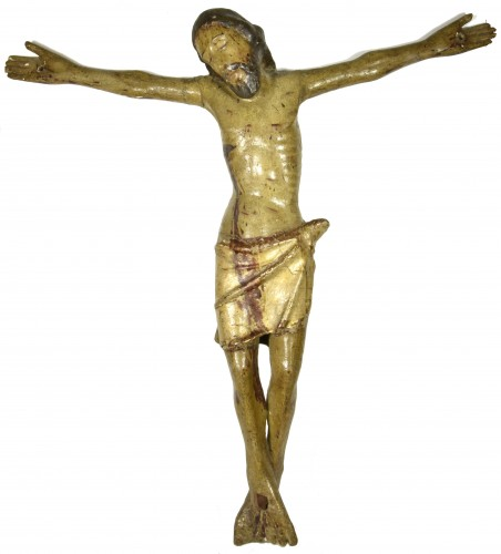 Christ in carved and polychrome wood, Central Italy, 15th century