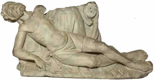 Limestone Christ figure from a pieta group - Loire Valley circa 1500