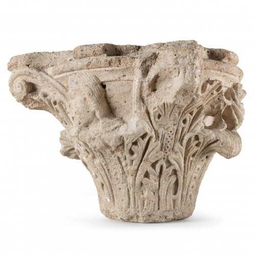 11th to 15th century - Romanesque-Gothic capital circa 1150-1160