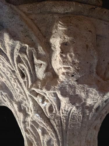 Middle age - Romanesque-Gothic capital circa 1150-1160