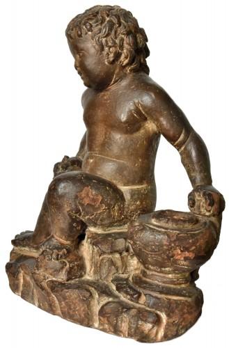 Terracotta putto, follower of Giovanni della Robbia, circa 1520-1540 - Sculpture Style Renaissance