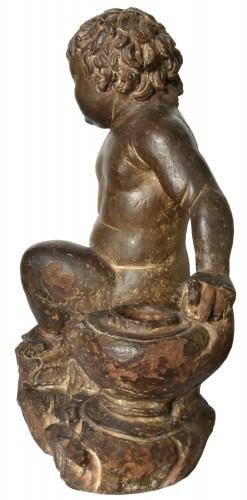 Sculpture  - Terracotta putto, follower of Giovanni della Robbia, circa 1520-1540