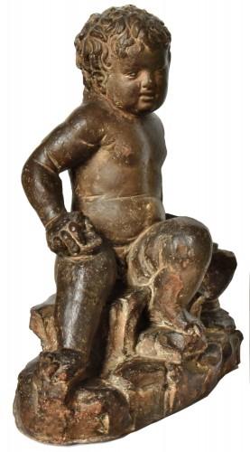 Terracotta putto, follower of Giovanni della Robbia, circa 1520-1540 -