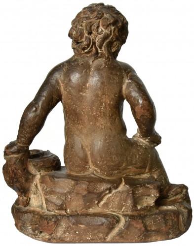 <= 16th century - Terracotta putto, follower of Giovanni della Robbia, circa 1520-1540