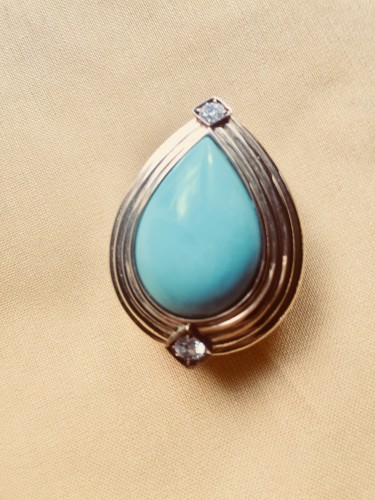 Turquoise Repossi Earrings  - Antique Jewellery Style