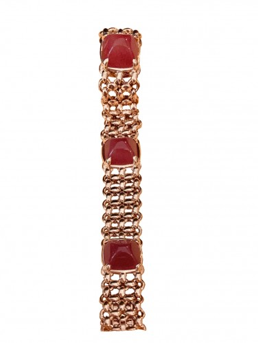 Gold bracelet with Cornelian by HERMÈS