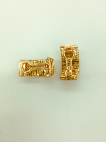 Antique Jewellery  - Gold and diamond earrings by BULGARI