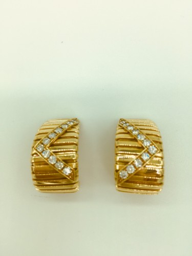 Gold and diamond earrings by BULGARI  -