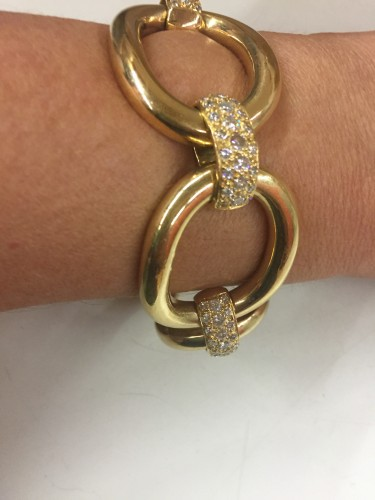 Gold and diamonds bracelet  - Antique Jewellery Style