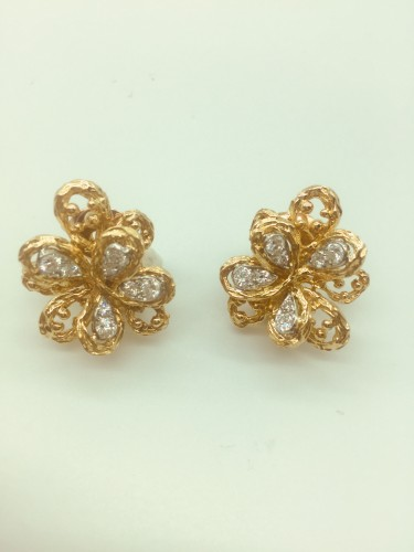 Antique Jewellery  - Van Cleef  -Set brooch and ear clips