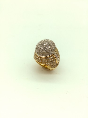 Gorgeous gold diamonds ring - Antique Jewellery Style
